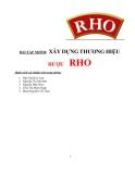Tiểu luận:XÂY DỰNG THƯƠNG HIỆU RƯỢU  RHO