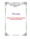 Tiểu luận: Chiến lược kinh doanh sản phẩm Trà thảo mộc DrThanh