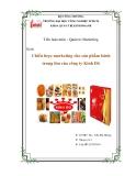 Tiểu luận:Chiến lược marketing cho sản phẩm bánh trung thu của công ty Kinh Đô