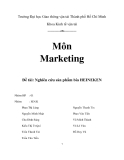 Tiểu luận:Nghiên cứu sản phẩm bia HEINEKEN