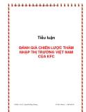 Tiểu luận:Đánh giá chiến lược thâm nhập thị trường Việt Nam của KFC