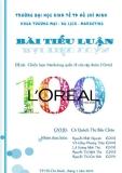 Tiểu luận:Chiến lược marketing toàn cầu của mỹ phẩm Loreal