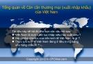 Tổng quan về Cán cân thương mại (xuất nhập khẩu) của Việt Nam