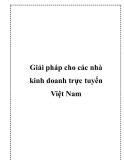 Giải pháp cho các nhà kinh doanh trực tuyến Việt Nam