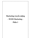 Marketing truyền miệng - WOM Marketing Phần 1