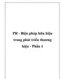 PR - Biện pháp hữu hiệu trong phát triển thương hiệu - Phần 1