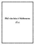 Phố văn hóa ở Melbourne (Úc)
