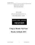 Tiểu luận:Công ty Honda Việt Nam Honda Airblade 2011