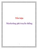 Tiểu luận:  Marketing phi truyền thống