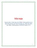 Tiểu luận: Nguyên nhân và hiệu ứng của tái định vị thương hiệu tại các ngân hàng thương mại Việt Nam hiện nay. Phân tích chiến lược định vị thương hiệu tai NHTMCP Quốc tế VN