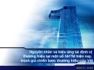 Đề tài : Nguyên nhân và hiệu ứng tái định vị thương hiệu tại một số NHTM hiện nay. Đánh giá chiến lược thương hiệu của VIB