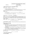 Đề thi thử ĐH môn Toán năm 2013 - Đề số 5