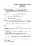 ĐỀ THI THỬ TUYỂN SINH ĐẠI HỌC NĂM 2013 Môn: Toán học ĐỀ SỐ 08