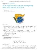 Đề thi tuyển sinh lớp 10 chuyên Lê Hồng Phong (Nam Định) năm học 2013-2014