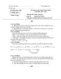 Đề thi học sinh giỏi lớp 10 -  Sở Gd&ĐT Bạc Liêu