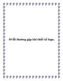 10 lỗi thường gặp khi thiết kế logo.