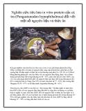 Nghiên cứu tiêu hóa in vitro protein của cá tra (Pangasianodon hypophthalmus) đối với một số nguyên liệu và thức ăn