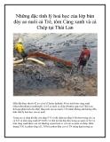 Những đặc tính lý hoá học của lớp bùn đáy ao nuôi cá Trê, tôm Càng xanh và cá Chép tại Thái Lan