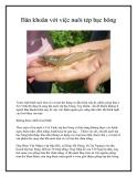 Băn khoăn với việc nuôi tép bạc bông