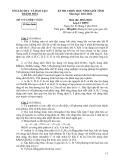 Đề thi học sinh giỏi 12 môn Hóa - Sở GD&ĐT Thanh Hóa