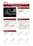 Bài 5: Thực hiện pháp luật, vi phạm pháp luật và trách nhiệm pháp lý