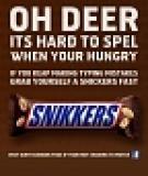 Snickers thắng đậm nhờ chiến dịch SEO