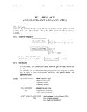 Giáo khoa hóa hữu cơ - AMINO AXIT (AMINO ACID, AXIT AMIN, ACID AMIN)