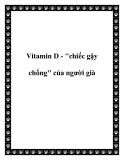 Vitamin D - ''chiếc gậy chống'' của người già