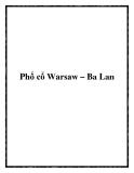 Phố cổ Warsaw – Ba Lan