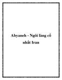Abyaneh - Ngôi làng cổ nhất Iran