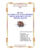 Tiểu luận:TÁC ĐỘNG CỦA TỶ GIÁ HỐI ĐOÁI TRUNG QUỐC ĐẾN CÁN CÂN THƯƠNG MẠI MỸ
