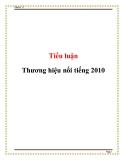 Tiểu luận: Thương hiệu nổi tiếng 2010
