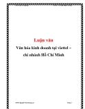 Luận văn: Văn hóa kinh doanh tại viettel – chi nhánh Hồ Chí Minh