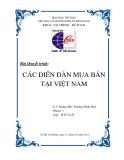 Tiểu luận:Các diễn đàn mua bán tại Việt Nam
