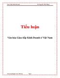 Tiểu luận: Văn hóa Giao tiếp Kinh Doanh ở Việt Nam