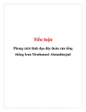 Tiểu luận: Phong cách lãnh đạo độc đoán của tổng thống Iran Mouhamed Ahmadinejad