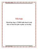 Tiểu luận: Thành lập công ty TNHH Smile-land, là một khu vui chơi bao gồm cả phục vụ ăn uống