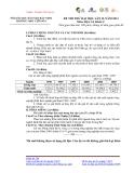 ĐỀ THI THỬ ĐẠI HỌC LẦN II, NĂM 2013 Môn: ĐỊA LÍ; Khối: C ĐỀ 21