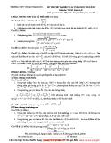 Tổng hợp đề thi thử ĐH môn Toán các khối Đề 9