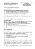 Đề thi tuyển sinh môn kinh tế học 5/2012