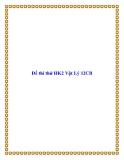 Đề thi thử HK2 Vật Lý 12CB