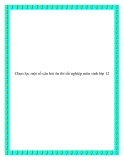 Chọn lọc một số câu hỏi ôn thi tốt nghiệp môn Sinh lớp 12