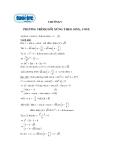 Bài tập phương trình đối xứng theo sin và cos
