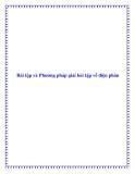 Bài tập và Phương pháp giải bài tập về điện phân