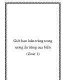 Giới hạn luân trùng trong ương ấu trùng cua biển (Zoae 1)