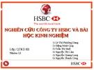 NGHIÊN CỨU CÔNG TY HSBC VÀ BÀI HỌC KINH NGHIỆM