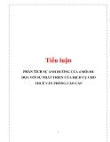 Tiểu luận: PHÂN TÍCH SỰ ẢNH HƯỞNG CỦA 4 MỐI ĐE DỌA VỚI SỰ PHÁT TRIỂN CỦA DỊCH CỤ CHO THUÊ VĂN PHÒNG CAO CẤP