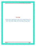 Tiểu luận:  Chiến lược kinh doanh quốc tế của Walt Disney và hình thức thâm nhập vào thị trường Trung Quốc