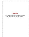 Tiểu luận: PHÂN TÍCH MÔI TRƯỜNG KINH DOANHTỔNG CTY BIA-RƯỢU-NGK SÀI GÒN SABECO