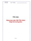 Tiểu luận:Hàng may mặc Việt Tiến thâm nhập thị trường Đức